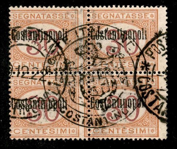 ITALIA / Uffici Postali all'Estero / Levante / Costantinopoli / Segnatasse