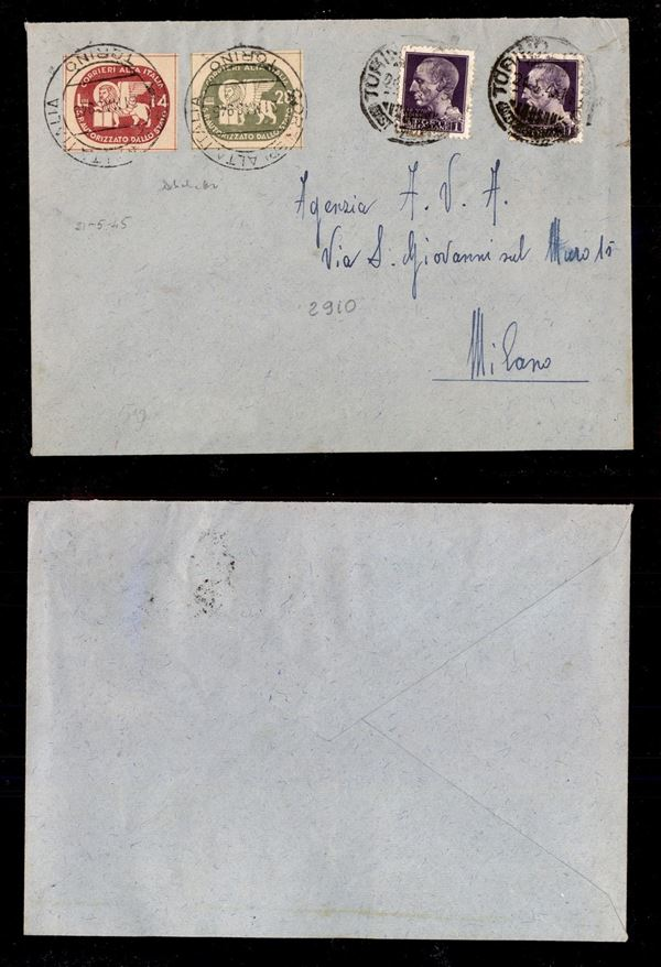 ITALIA / Luogotenenza / Servizi Postali Autorizzati / COR.AL.IT. / COR.AL.IT.