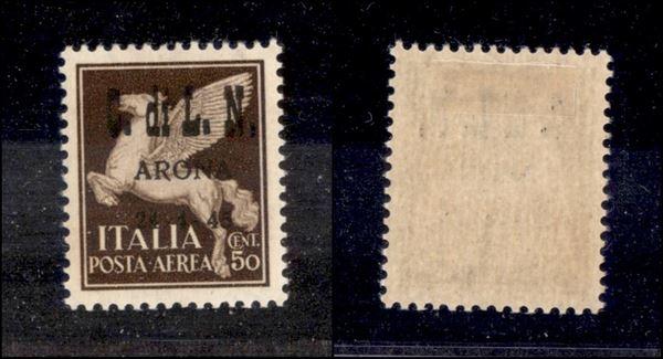 ITALIA / C.L.N. / Arona / Posta aerea
