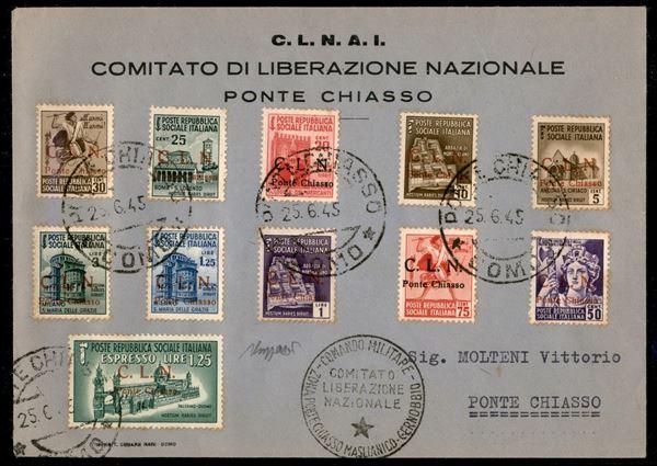 ITALIA / C.L.N. / Ponte Chiasso / Posta ordinaria