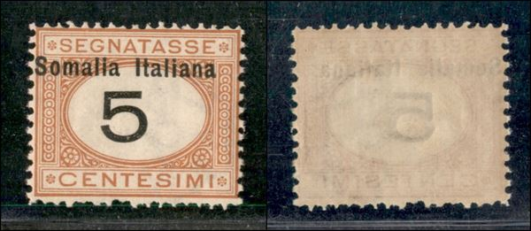 ITALIA / Colonie / Somalia / Segnatasse