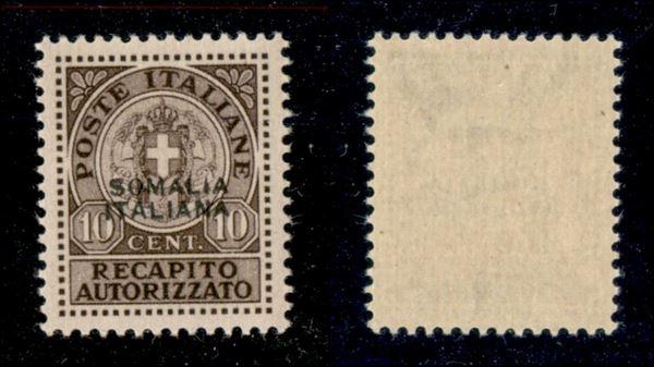 ITALIA / Colonie / Somalia / Recapito autorizzato