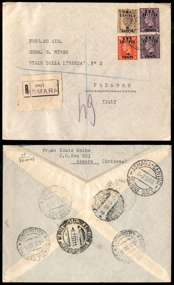 ITALIA / Occupazioni straniere delle colonie / Occupazione Britannica / B.M.A./B.A. Eritrea / Posta ordinaria