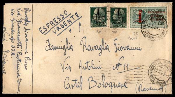 ITALIA / RSI / Provvisori / Genova / posta ordinaria + espressi