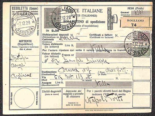 ITALIA / Regno / Bollettino Pacchi