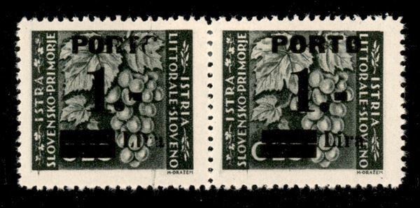 ITALIA / Occupazioni II guerra mondiale / Occupazione Jugoslava / Istria e litorale Sloveno / Segnatasse