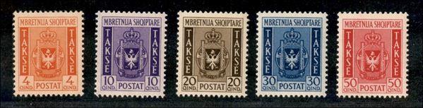 ITALIA / Occupazioni II guerra mondiale / Albania / Segnatasse