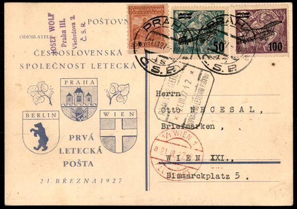 CECOSLOVACCHIA / Posta aerea