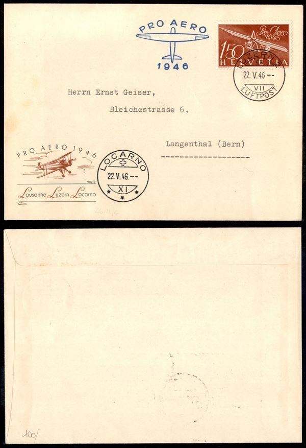 SVIZZERA / Aerogrammi  (1946)  - Asta Asta Veloce - Auction Gallery