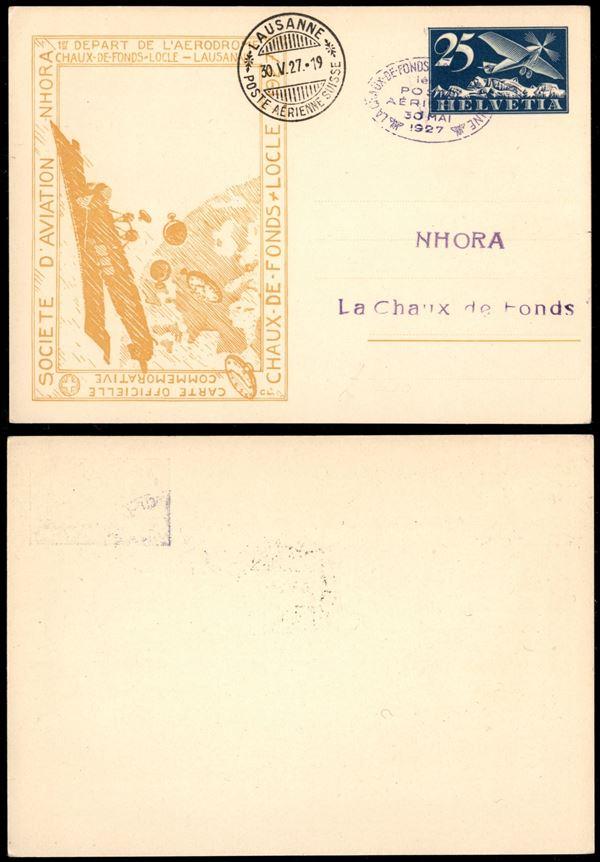 SVIZZERA / Aerogrammi  (1927)  - Asta Asta Veloce - Auction Gallery