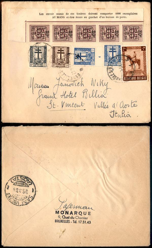 BELGIO / Posta ordinaria  - Asta Asta Veloce - Auction Gallery