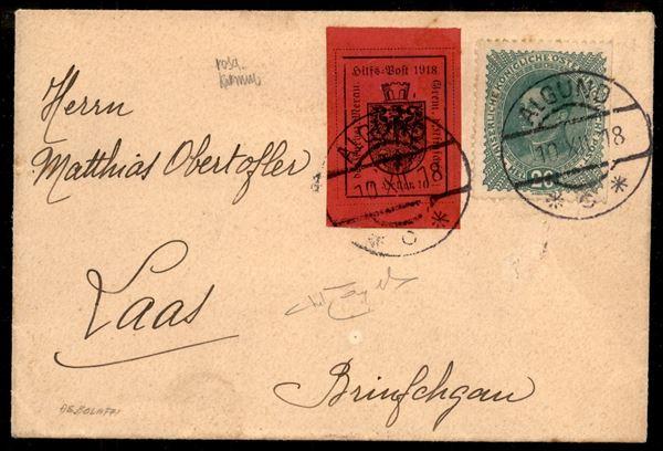 ITALIA / Occupazioni I guerra mondiale / Merano / Posta ordinaria