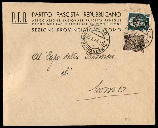 ITALIA / RSI / G.N.R. Verona / Posta ordinaria