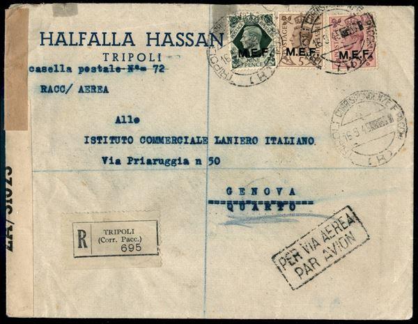 ITALIA / Occupazioni straniere delle colonie / Occupazione Britannica / M.E.F. / Aerogrammi