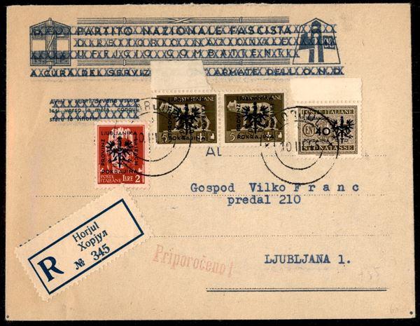ITALIA / Occupazioni straniere di territori Italiani / Occupazione Tedesca / Lubiana / Posta ordinaria