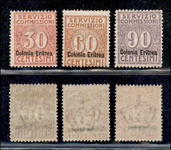 ITALIA / Colonie / Eritrea / Servizio commissioni