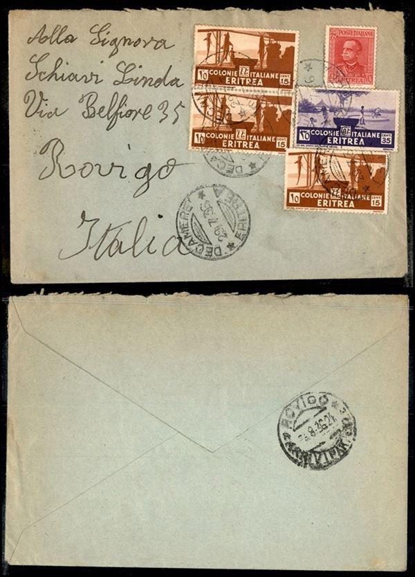 ITALIA / Colonie / Eritrea / Aerogrammi