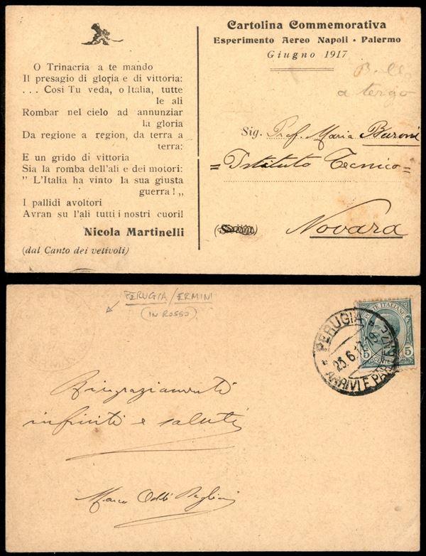 ITALIA / Regno / Aerogrammi  (1917)  - Asta Asta Pubblica-Live Posta Aerea - Auction Gallery