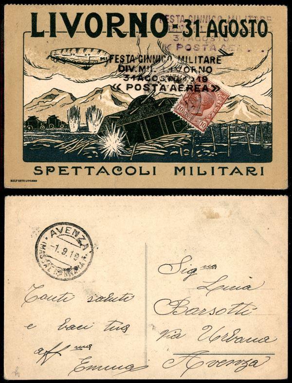 ITALIA / Regno / Aerogrammi  (1919)  - Asta Asta Pubblica-Live Posta Aerea - Auction Gallery