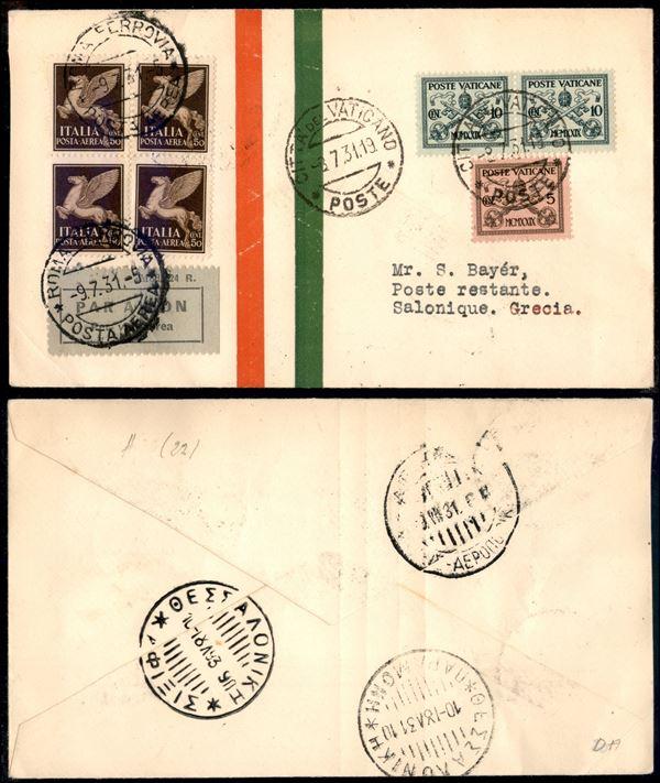 ITALIA / Regno / Aerogrammi  (1931)  - Asta Asta Pubblica-Live Posta Aerea - Auction Gallery
