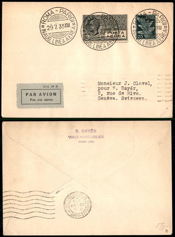 ITALIA / Regno / Aerogrammi  (1935)  - Asta Asta Pubblica-Live Posta Aerea - Auction Gallery