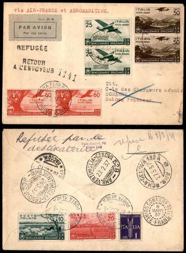 ITALIA / Regno / Aerogrammi  (1936)  - Asta Asta Pubblica-Live Posta Aerea - Auction Gallery