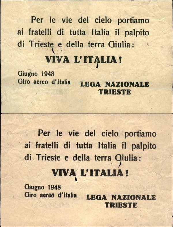 ITALIA / Volantini Lanciati da Aereo