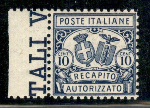 ITALIA / Regno / Vittorio Emanuele III / Recapito autorizzato