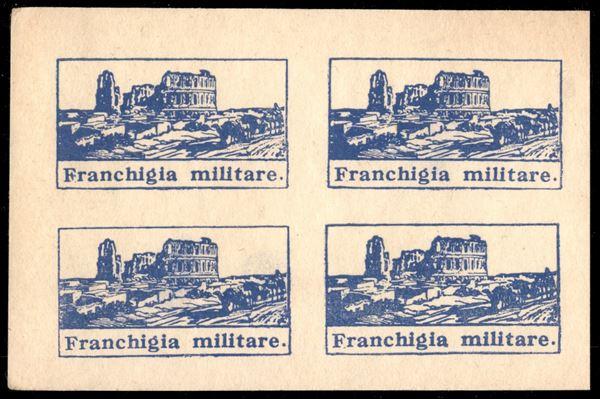 ITALIA / Regno / Franchigia militare