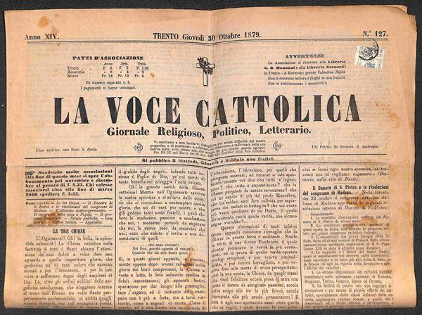 ITALIA / Antichi Stati Italiani / Lombardo Veneto / Territori Italiani d'Austria / Segnatasse giornali