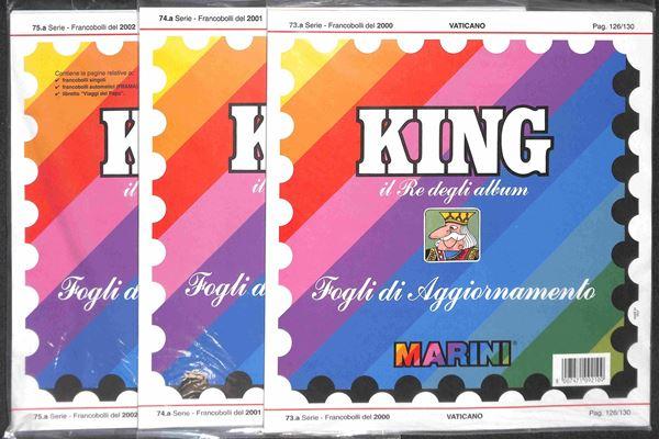 MATERIALE FILATELICO - Pagine Marini 22 fori - VATICANO 2000/2002 completi con taschine - perfette condizioni
