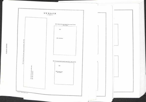 MATERIALE FILATELICO - Pagine Marini 22 fori - REPUBBLICA QUARTINE dal 1983 al 1989 completi con taschine - ottime condizioni