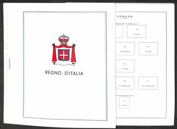 MATERIALE FILATELICO - Pagine Marini 22 fori - REGNO completo con taschine - ottime condizioni