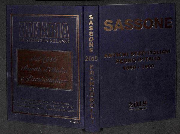 BIBLIOTECA FILATELICA - Catalogo Sassone Antichi Stati Italiani 1850-1900 - edizione 2018 - come nuovo