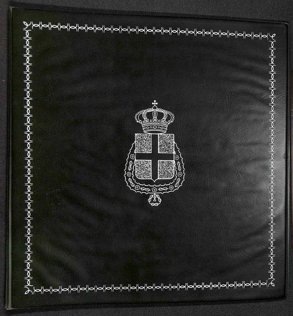 MATERIALE FILATELICO - Album Marini Cartella 22 anelli con pagine Regno 1922/1938 + servizi - buone condizioni