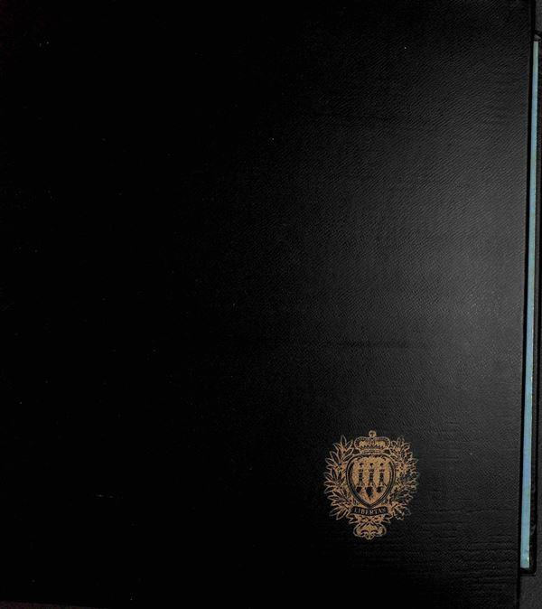 MATERIALE FILATELICO - Album GBE 2 anelli con pagine di Regno - buone condizioni