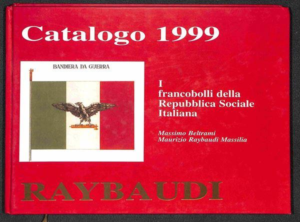 BIBLIOTECA FILATELICA - RSI - I francobolli della Repubblica Sociale Italiana - Raybaudi 1999 - volume illustrato con studio delle soprastampe adottate nel 1944 - nuovo in perfette condizioni