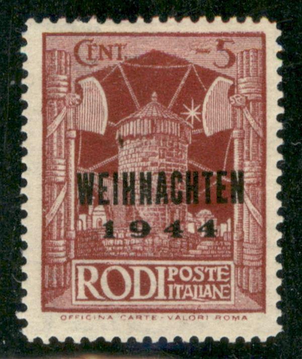 ITALIA / Occupazioni straniere delle colonie / Occupazione Tedesca / Egeo / Posta ordinaria