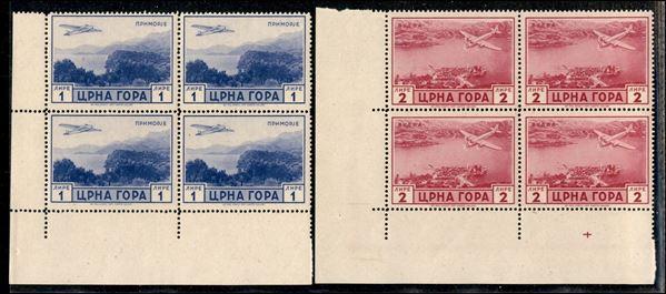 ITALIA / Occupazioni II guerra mondiale / Montenegro / Posta aerea