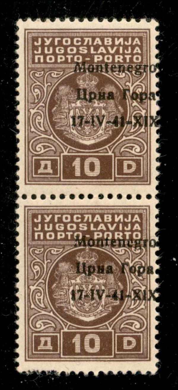 ITALIA / Occupazioni II guerra mondiale / Montenegro / Segnatasse